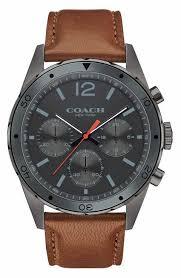 men s coach watches watches for men nordstrom coach sullivan sport chronograph leather strap watch 44mm