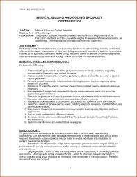 Coding Specialist Sample Resume Ultimate Medical Billing Resume Samples With And Coding Sample Entry 13