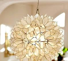 capiz shell chandelier pendant pottery barn in light west elm capiz shell chandelier