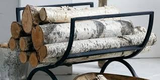 wood holders for fireplace log holder west elm wood holders for inside fireplace