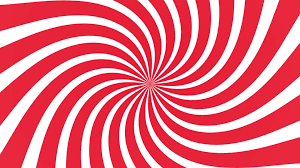 Radial Red Radial Swirl Rising Sun Vortex Motion Background Loop Red And White