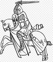 coloring book knight drawing le knight
