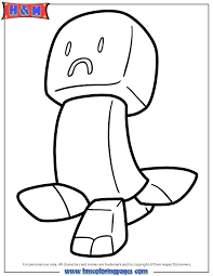Creeper Coloring Pages Printable Creeper From Coloring Pages 2 Skin