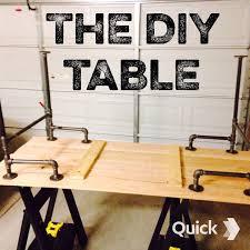 diy pallet iron pipe. Black Iron Pipe Table Diy Pallet