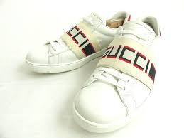 it is made in aw gucci gucci 523469 low frequency cut stripe leather sneakers white