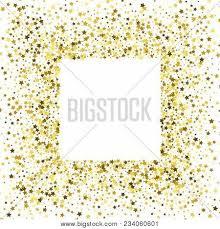gold frame border square. Square Gold Frame Or Border Of Random Scatter Golden Stars On White  Background. Design Element Gold Frame Border Square