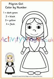 thanksgiving pilgrim girl coloring pages. Beautiful Girl Explore Activity Village Colouring Pages  Topics With Thanksgiving Pilgrim Girl Coloring O