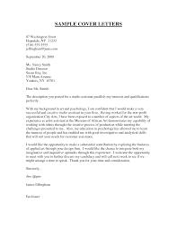 Sample Cover Letter For Non Specific Job Tomyumtumweb Com