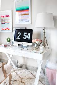 home office home office makeover emily. White And Gold Office Home Makeover Emily