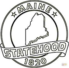 Small Picture State Of Maine coloring page Free Printable Coloring Pages