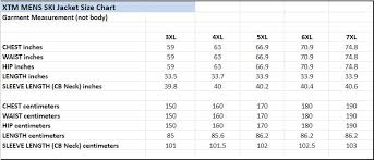 Mens Plus Size Chart Xtm Axel Mens Plus Size Ski Jacket Black Denim Sizes 2xl 7xl