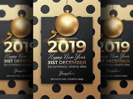 invitation flyer new year invitation flyer template by hotpin dribbble dribbble