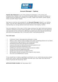 Sen 1116 Sydney Account Manager Radioinfo