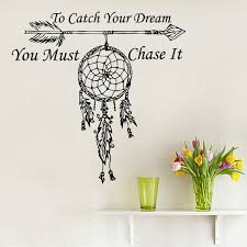 Quotes That Go With Dream Catchers Best of Fashion Wall Decals Quote To Catch Your Dream Catcher Vinyl Sticker