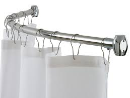mesmerizing round shower curtain rods home depot in