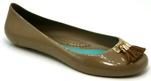 Details About Oka B Womens Shoes Size 7 Ballet Flats Tassel Slip On Jelly Rubber Nude Tan