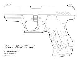 Nerf Coloring Pages With Gun War Printable Guns Sheets