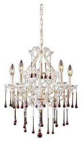 elk 4002 5amb once medium 5 candle antique white amber crystal chandelier lighting loading zoom
