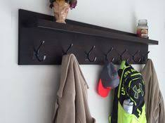 Rubbed Bronze Coat Rack Coat Rack with Shelf Wall Mounted with 100 Oil Rubbed Bronze Hooks 75