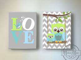 owl canvas wall art for nursery