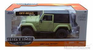 2007 jeep wrangler green jada toys 96956 1 24 scale cast model toy car