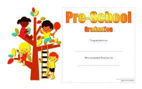 free preschool certificates preschool graduation certificate template free certificates