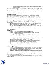 Portable X Ray Technique Chart Technical Aspects Radiology Lecture Notes Docsity