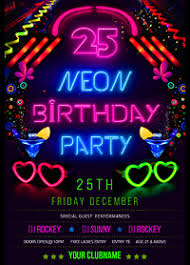 glow flyer template flyer neon party glow commonpence co ianswer