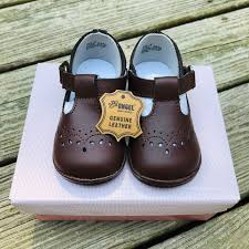 L Amour Angel Baby Brown Dress Shoes Nwt