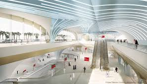 the celebration of arriving and departing has always been found in the design of stations for the qatar integrated railway project a system was designed