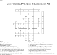 Elements And Principles Of Design Crossword The Elements And Principles Of Design Crossword Wordmint
