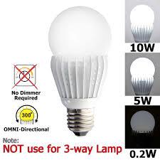 Light Bulb Levels Ismartled 3 Switchable Lighting Levels Led Bulb Of 10 5 0 2w