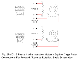 2 phase motor drawings 1 ecn electrical forums basic 2 phase 4 wire squirrel cage induction motor drawings also demonstrates counter clockwise c c w clockwise c w connections