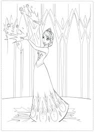 Disney Frozen Elsa And Anna Coloring Pages For Kids Free Printable