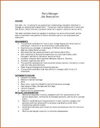 Parts Manager Resume Parts Manager Resume Auto Service Advisor Cover Letter Inside 7