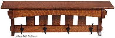 Mission Style Coat Rack Shelf