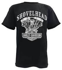 harley davidson men s t shirt shovelhead engine short sleeve