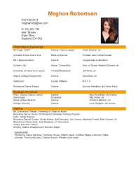 Performance Resume Gorgeous PERFORMANCE RESUME