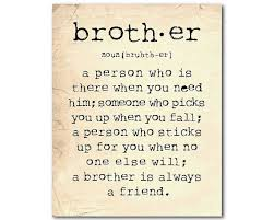 Brother Gift Wall Art A Brother Is A By Susannewberrydesigns Post