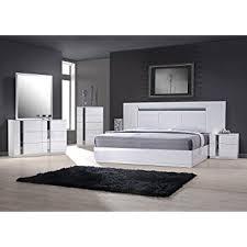 cheap king size bedroom sets. J\u0026M Furniture 17853-K Palermo King Size Bedroom Set - White Lacquer \u0026 Chrome Cheap Sets S