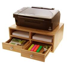 cabinet accessories best desktop organizers with drawers with 30 pictures bamboo printer stand