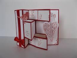 fold card tri fold shutter card white with ink ribbon base
