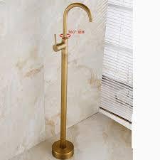 floor mount tub filler. Single Handle Floor Mount Bathtub Faucet Antique Brass Free Standing Tub Filler