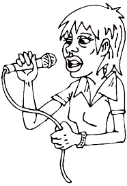 Small Picture Rock star coloring pages girl vocalist coloring pages rock star