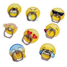 Emoji Metal Ring <b>Universal</b> Mobile Cell Phone Stand Holder ...