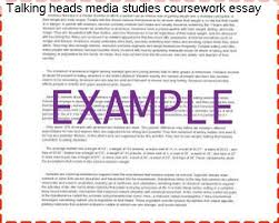 talking heads media studies coursework essay college paper  talking heads media studies coursework essay
