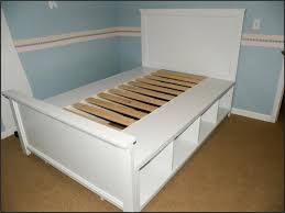 diy bed frame with storage full size