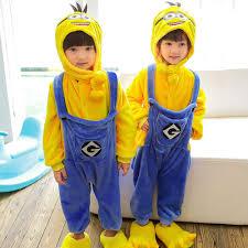 <b>Minions Kids Boys</b> Girls <b>Kigurumi</b> Animal Cosplay Costume <b>Onesie</b> ...