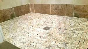 tile ready shower pan tile shower pan barrier free installation single threshold with center drain problems