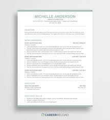 Free Modern Resume Template Michelle Career Reload